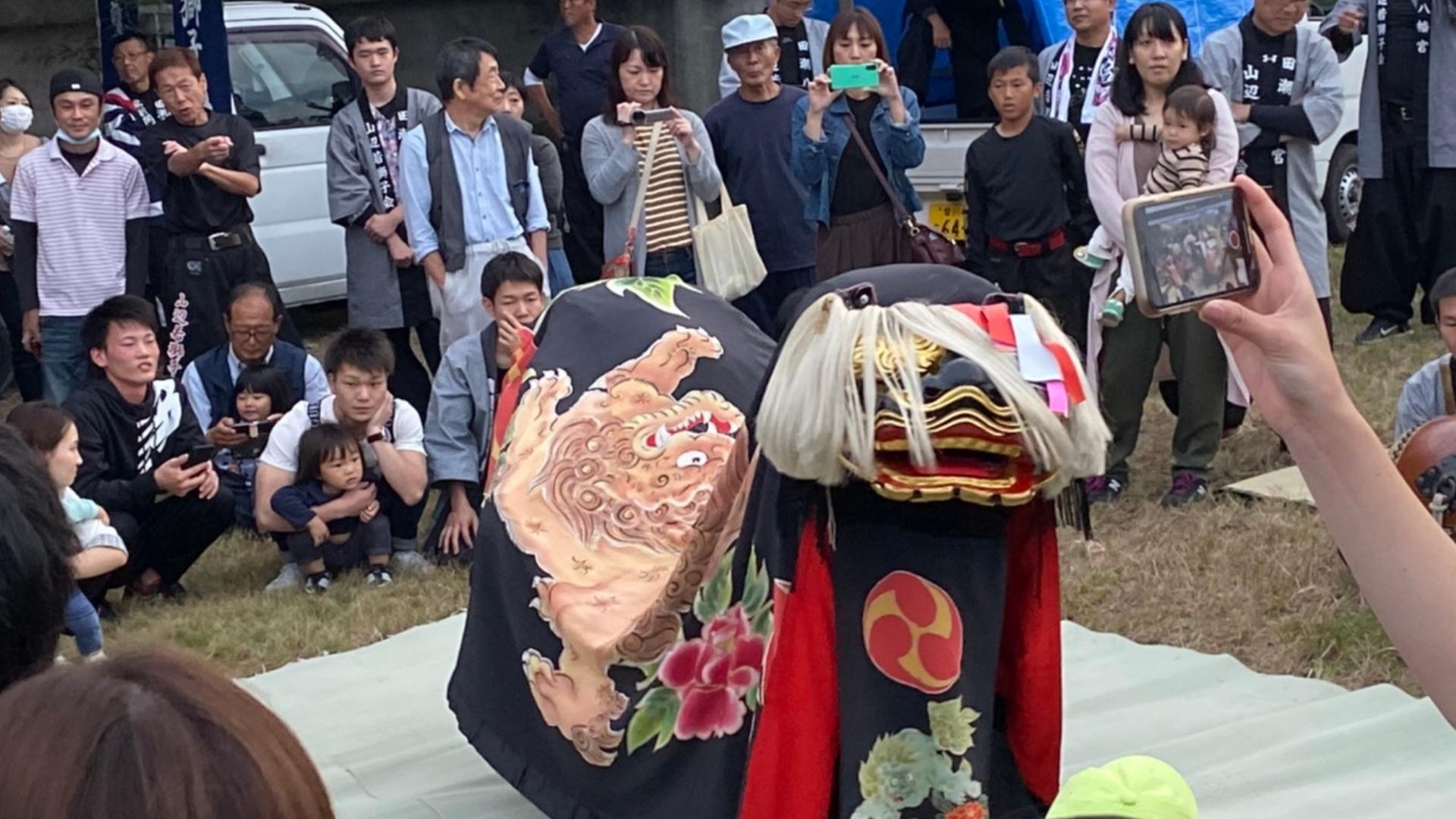 田代八幡宮獅子舞